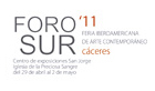 Cartel de Foro Sur 2011 | Las galerías de Foro Sur son habituales en otras ferias nacionales