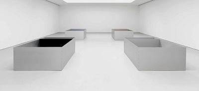 Vista de la Instalacion, Donald Judd, David Zwirner, New York, 2011 | Algunas galerías asumen la exclusividad de los Estate de artistas fallecidos