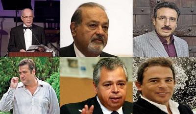 De Izq-Dcha, P.Simón, Slim, Blaisten, Coppel, L.Rocha y L.Alonso | México, potencia mundial en coleccionismo privado de arte
