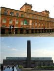 Pinacoteca do Estado arriba y Tate Modern abajo