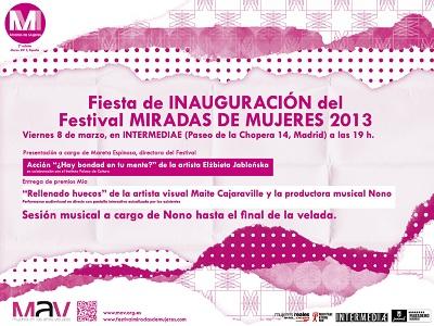 II Festival Miradas de Mujeres   El II Festival Miradas de Mujeres reune más de 800 artistas en 192 sedes de toda España