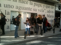 Presentación de entreacto en M. Pérez de Albeniz