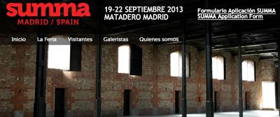 Página web de SUMMA Art Fair   SUMMA Art Fair tiene confirmadas 52 galerías, la mitad españolas