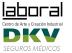 Logos de LABoral y DKV Seguros