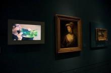 Vista de la exposición Entre tiempos en el Museo Lázaro Galdiano