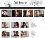 Pantallazo de la web oralmemories.com