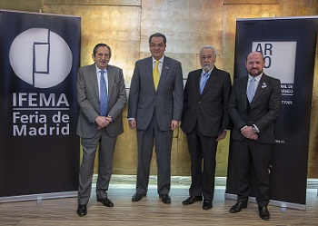 Responsables de Ifema, director de ARCOmadrid y Embajador de Colombia | Colombia será el país invitado en ARCOmadrid 2015
