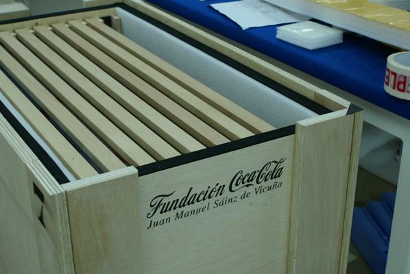 Embalajes para la Fundación Coca Cola España.