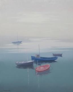 Casademont Le vieux, 1976, Calitja, Port de La Selva, oli tela, 81x65 cm.