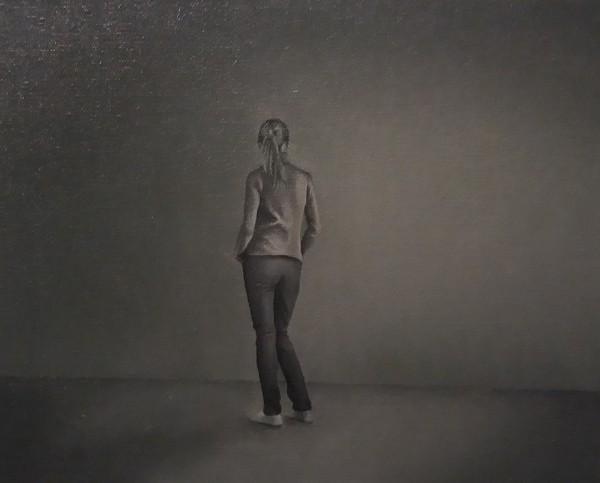 Tatiana Lastarria. La Pintura. óleo sobre tela. 22×27 cm.
