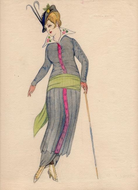 Ismael Smith, Dona a la moda, ca. 1914 — Cortesía de Antiguitats Palau
