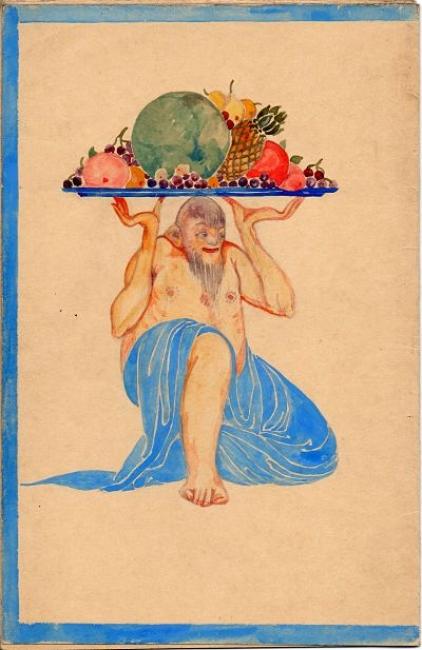 Ismael Smith, Estudi decoració, 1912 — Cortesía de Antiguitats Palau