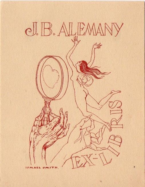 Ismael Smith, Ex-Libris, 1924 — Cortesía de Antiguitats Palau