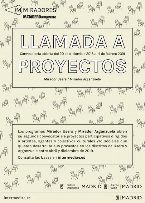 Mirador Arganzuela: Llamada a proyectos culturales 2019