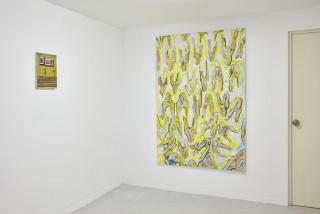 Vista de la exposición «Ideas fijas, paredes sueltas» de Rasmus Nilausen y Sebastian Cabrera — Cortesía de Crisis