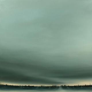 Ineditad Galería-Dresu-Laguna del Pueblo-Óleo sobre lienzo-50 x 50-2021