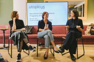 Xerrada sobre la col·lecció UtopicusART amb la comissària Cristina Anglada i l'artista Lúa Coderch durant BGW2019 — Cortesía de Art Barcelona (Abe)