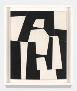 Pedro de Oraá, Sin Título (Untitled), 1960. Plaka on cardboard, 23 5/8 x 15 3/4 inches. Private Collection