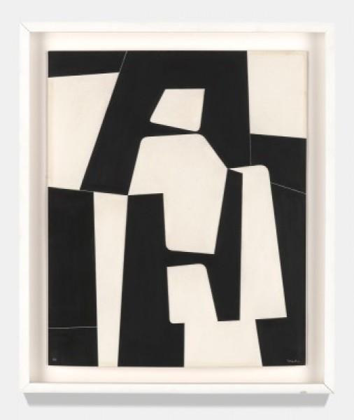 Pedro de Oraá, Sin Título (Untitled), 1960. Plaka on cardboard, 23 5/8 x 15 3/4 inches. Private Collection