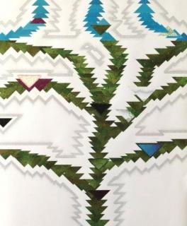 Nuno Gil. S/t, 2014. Tinta china, acrílico y grapas sobre papel Fabriano 300 g / m2 100% algodón. 140 x 116,5 cm.