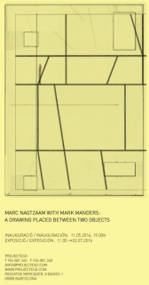 Marc Nagtzaam with Mark Manders: A drawing placed between two objects