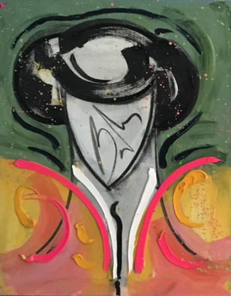 Torero 70 x 60 cm Óleo sobre lienzo