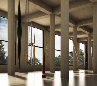 © 3D exhibition model Artur Lescher - Palais d'Iéna