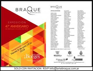 Exposicion 47° Aniversario de Braque