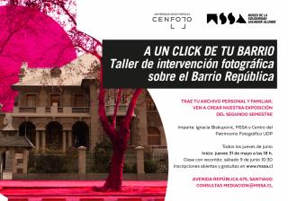 Invitación a taller de intervención fotográfica.