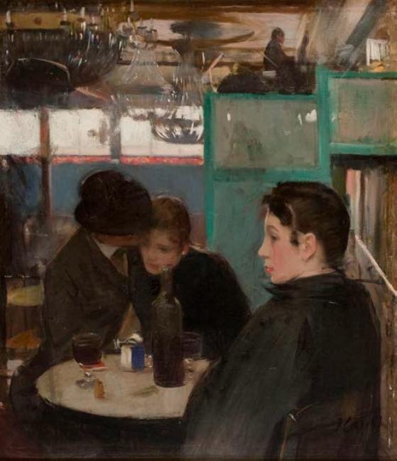 Ramón Casas. Interior del Moulin de la Galette. Paris, h. 1890-1891 — Cortesía del MNAC