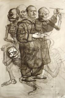 Germán Venegas, Autorretrato 16, 2006. Tinta sobre papel