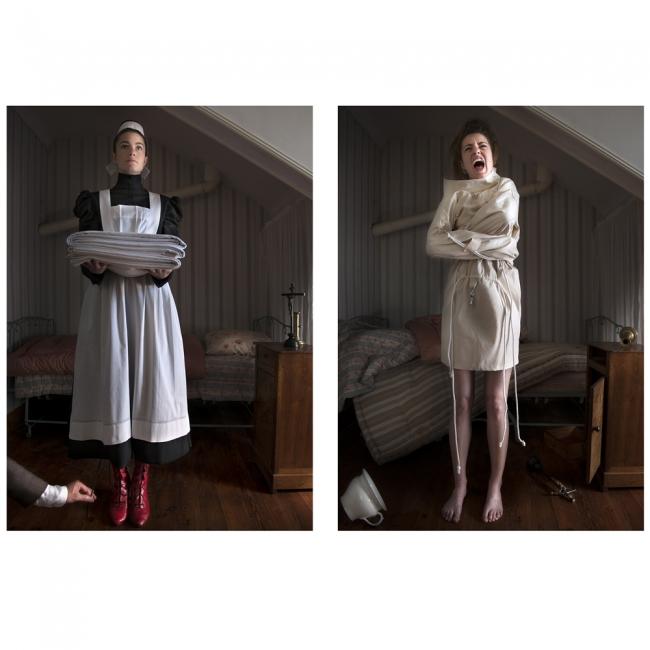 ANNE KUHN, Célestine, 97,5 x 70 cm. Impresió pigmentada en la foto Papel Rag Baryta (Brillante), marca Hahnemüle — Cortesía de El Liceu