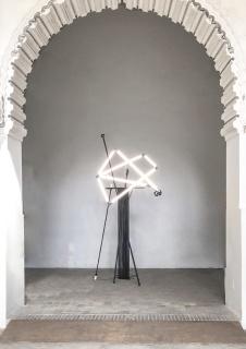 """Vista instalación """"El Huésped"""" / Modo de Lacería / Sergio Porlán. Las Claras — Cortesía de la Galería Artnueve"""