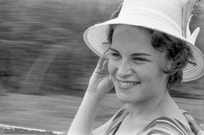 Lise Wilhelmsen in 1960. Cortesía HENIE ONSTAD KUNSTSENTER