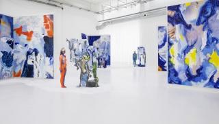 Donna Huanca, LENGUA LLORONA, 2019. Installation view at Copenhagen Contemporary. Photo: Anders Sune Berg.