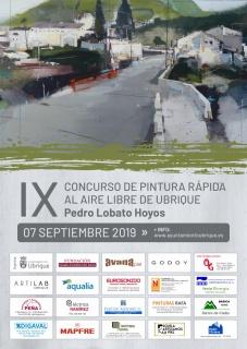 """Cartel del IX Concurso de Pintura Rápida al Aire Libre de Ubrique """"Pedro Lobato Hoyos"""""""