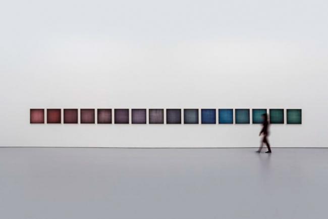 IGNACIO URIARTE, Beijing Windows No.1-No.16, 2017. Rotulador permanente sobre papel, 73,5×73,5 cm×16. Cortesía White Space Beijing. Cortesía del Centro de Arte Caja de Burgos CAB