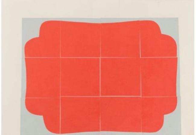 Sabine Finkenauer, Forma, 2014 dibujo y collage sobre papel, 70 x 100 cm.  — Cortesía de la Fundación Caja de Burgos