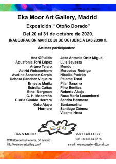 Exposición Otoño Dorado. EKA & MOOR Art Gallery