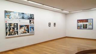 """Vista de la exposición """"Redes"""" de Ana Riaño — Cortesía de la Galería Lumbreras"""