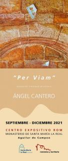 Cartel exposición Ángel Cantero_Per viam