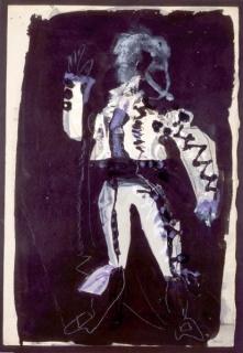 Antoni Clavé. Carmen 1. 1949. Gouache sobre papel. 56 x 38,5 cm.