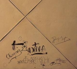 'Matèria ocre amb X', detalle