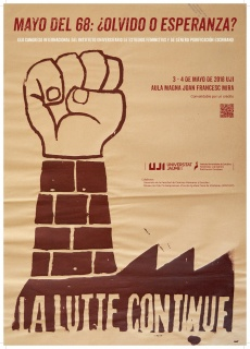 "Congreso: ""Mayo del 68: ¿olvido o esperanza?"""