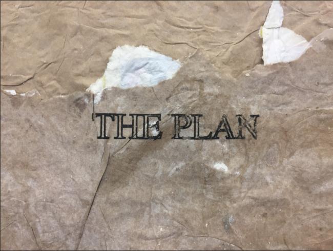 Candango (Detalle) Grabado, punta seca y fotograbado en bolsa de cemento 90 x 90 cm. Imagen cortesía Galería Vermelho