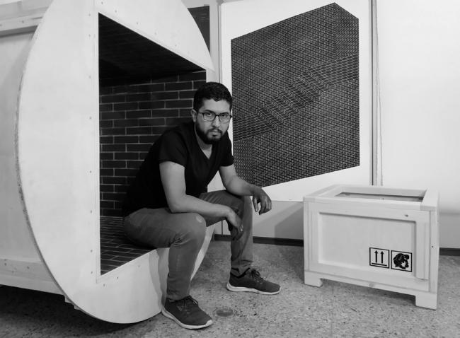 Manuel Calderón en su estudio de Madrid. Nov. 2018 — Cortesía de la Galería Fernando Pradilla