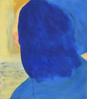 Lars Unkenholz. Blue eyes unchanged, 2020. Acrílico sobre lienzo, 30 x 40 cm. — Cortesía de galeria silvestre