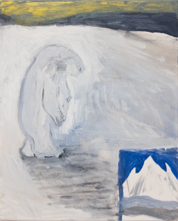 Lars Unkenholz. Untitled, 2020. Óleo sobre lienzo, 24 x 30 cm, — Cortesía de galeria silvestre