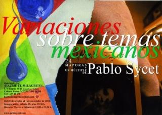 Pablo Sycet, Variaciones sobre temas mexicanos