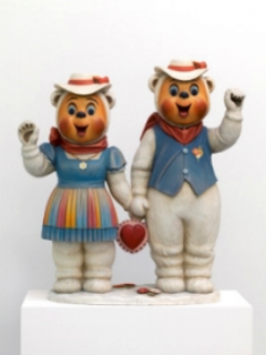 Winter Bears, 1988. Cortesía Jeff Koons